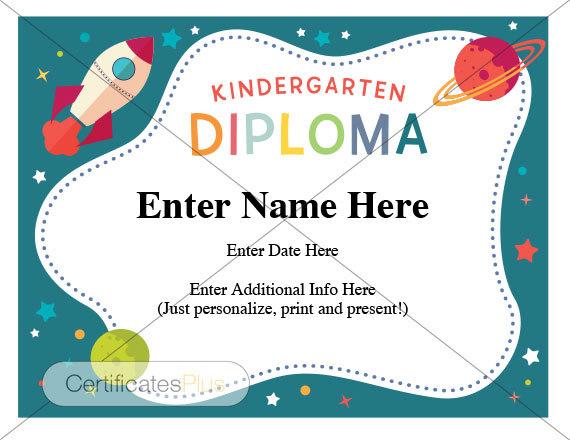 kindergarten diploma teacher certificate kindergarten etsy