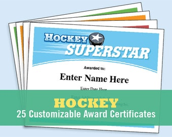 Certificates etsy hockey certificates yelopaper Choice Image
