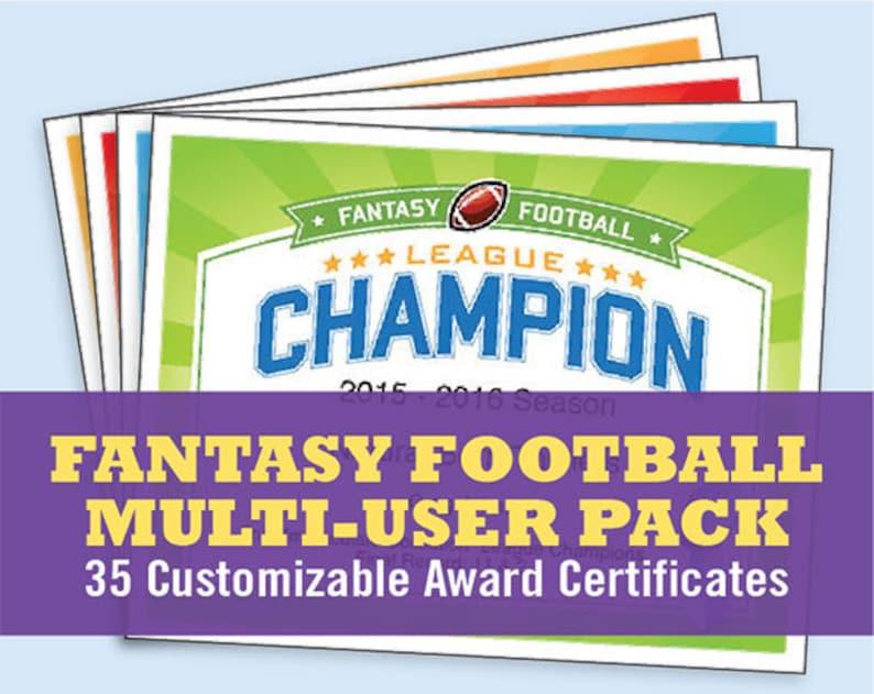 98aba8b881a Fantasy Football Certificates fantasy football trophy