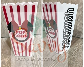 Minnie Mouse Popcorn Bucket with name