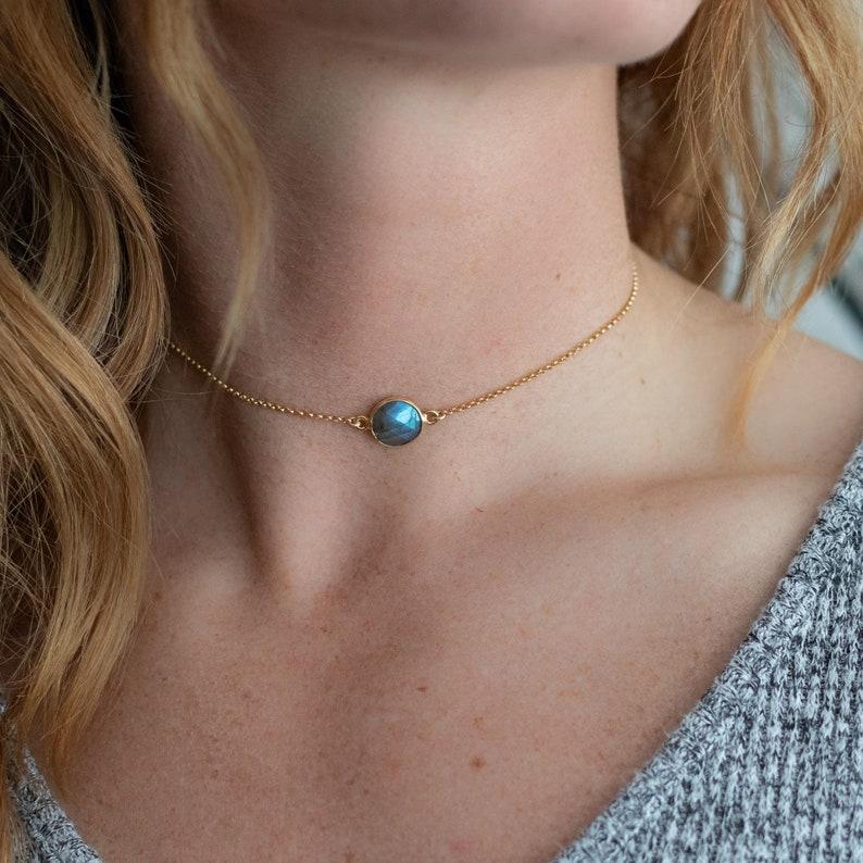 Gold Choker With Gemstones Gold Choker 18k Gold Gemstone Choker Necklace Gold Choker Necklace
