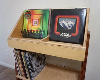 Vinyl Record Storage Stand and Display | Holds 400 LP's | Kallax Alternative