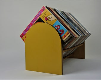 Vinyl Record Storage Stand and Display | Holds Over 100 LP's | Modern Furniture