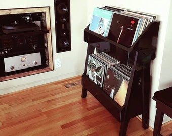 Vinyl Record Storage Stand and Display | Holds 260 LP's | Kallax Alternative |