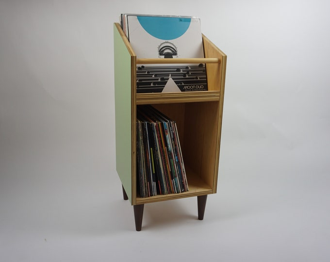 Featured listing image: Vinyl Record Storage Stand and Display | Holds 130 LP's | Kallax Alternative
