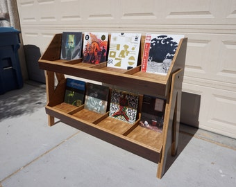 Vinyl Record Storage Stand and Display | Holds over 500 LP's | Kallax Alternative