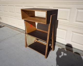 Audio Rack for Record Player with Vinyl Record Storage