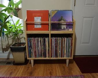 Scandinavian Vinyl Cabinet / Album Storage Cabinet / LP Stand / Vinyl Record Storage and Display