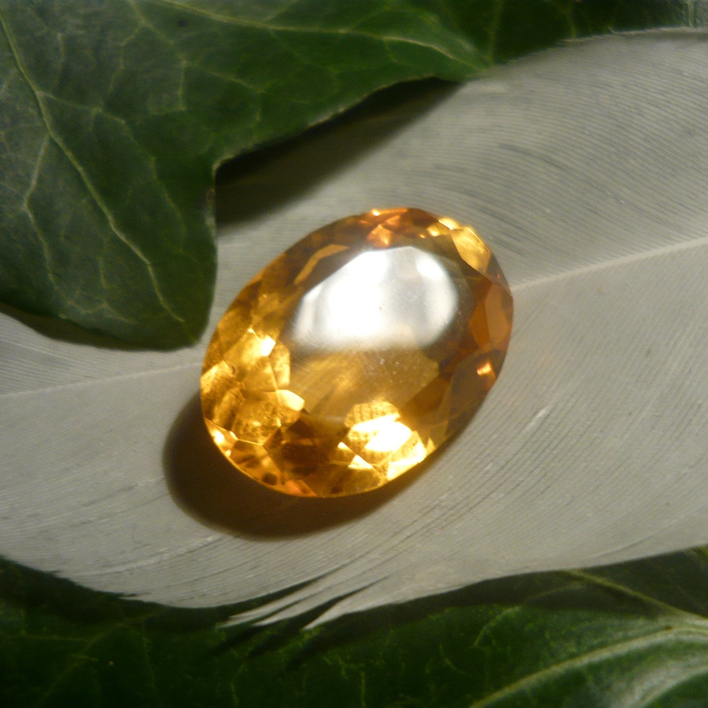 Citrine 118ct Oval Cut Etsy Natural Golden Orange 13ct