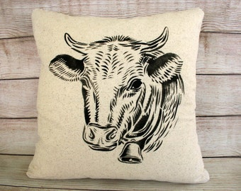 Throw Pillow, Farm Cow Pillow, Farm Decor, Farmhouse Style
