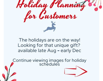 Holiday Planning Notes. Holiday Shop Hours. Holiday Gift Ideas.