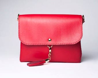 Red Crossbody Bag/ Crossbody Purse/ Messenger Bag
