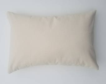 12x18 - Wholesale 10oz WHITE or NATURAL Cotton Canvas Pillow Cover Blanks - Perfect For Stencils, Painting, Embroidery, HTV