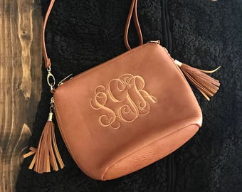 Monogram Purse - Crossbody Purse - Monogram Cross Body - Monogrammed Faux Leather Tote Bag - Monogrammed Handbag - Monogrammed Purse