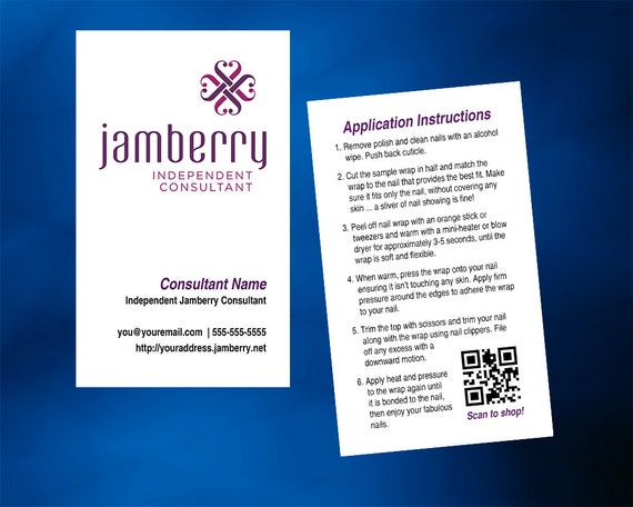 Jamberry nails business card vertical with optional back etsy reheart Choice Image