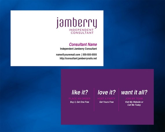 Jamberry nails business card horizontal with optional back reheart Images