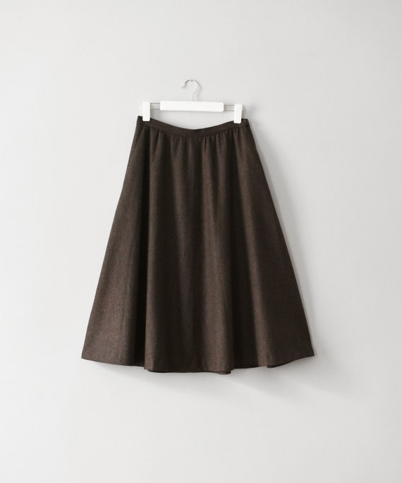 vintage full wool midi skirt, size M