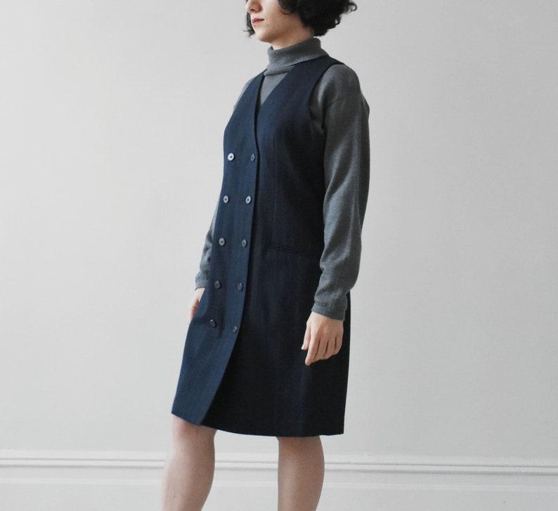 33f4f513f6d Vintage wool vest dress   sleeveless jumper dress   S