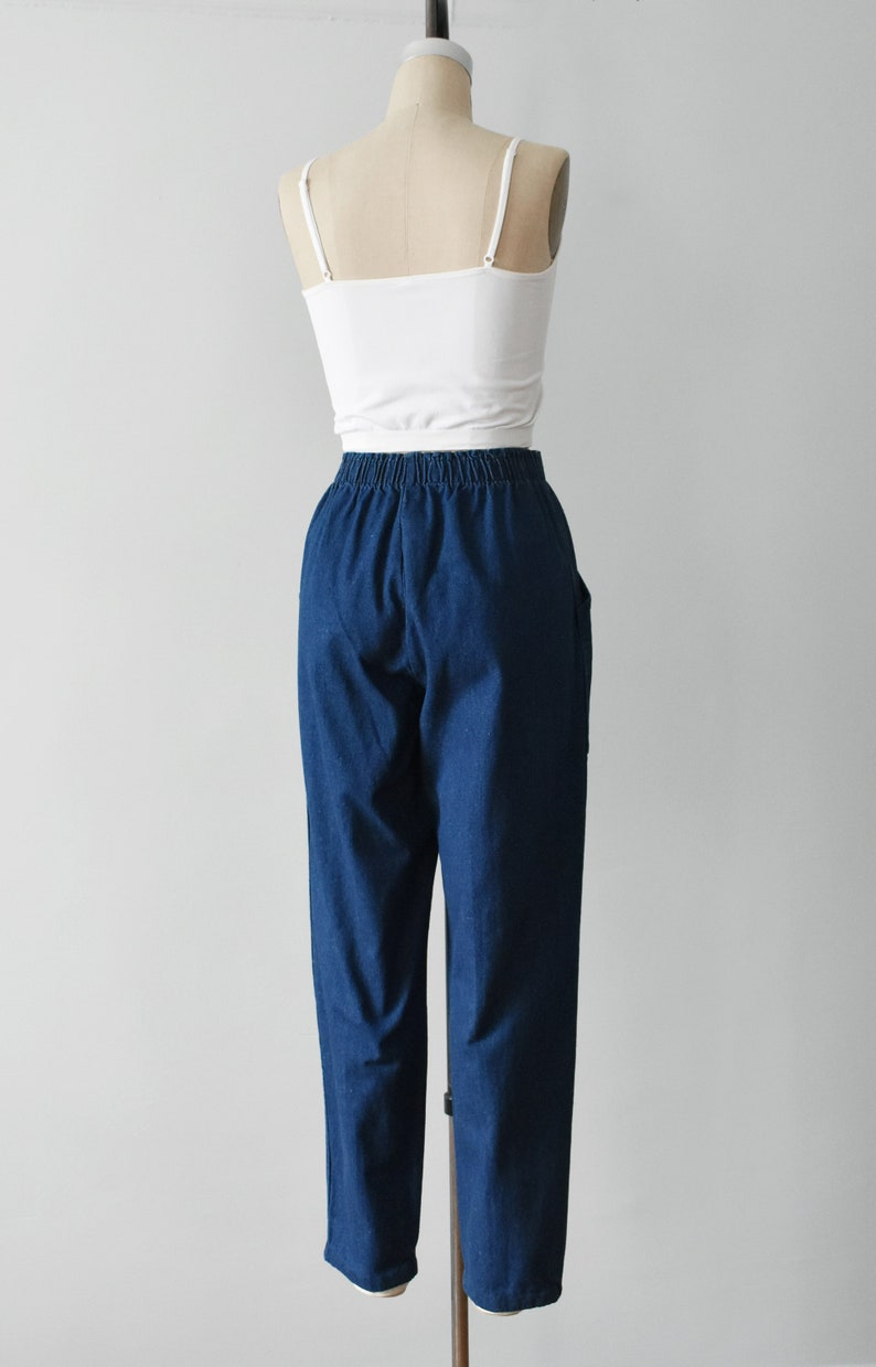 tapered jeans size S  M vintage high waisted denim pants