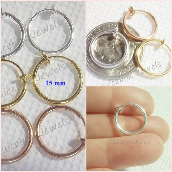 Gold Plated Clip-On Jewellry Converted Earring Loop Finding 10x5mm 20 x Silver