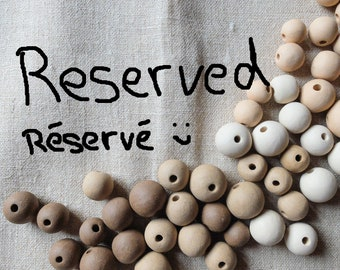 Reserved for Teresa!!  ceramic and waxed linen earrings