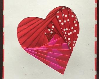 Handmade Iris Folded Heart Greeting Card