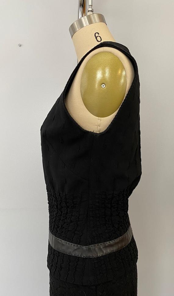 Plein Sud Sleeveless Wool/Leather Shirt - image 3