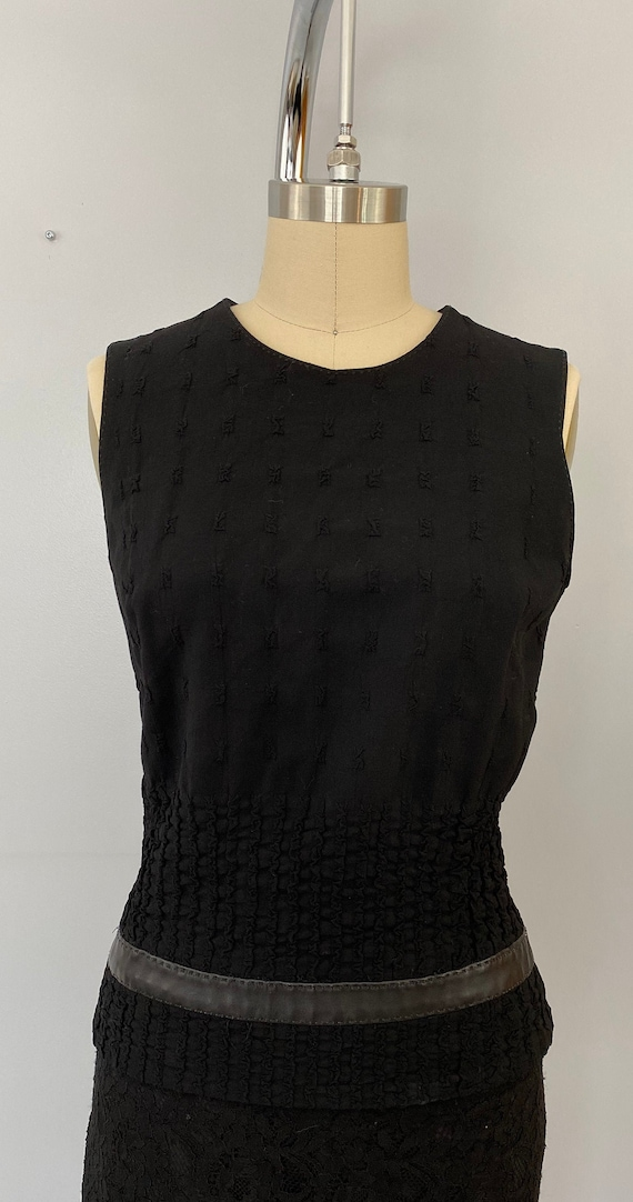 Plein Sud Sleeveless Wool/Leather Shirt - image 2