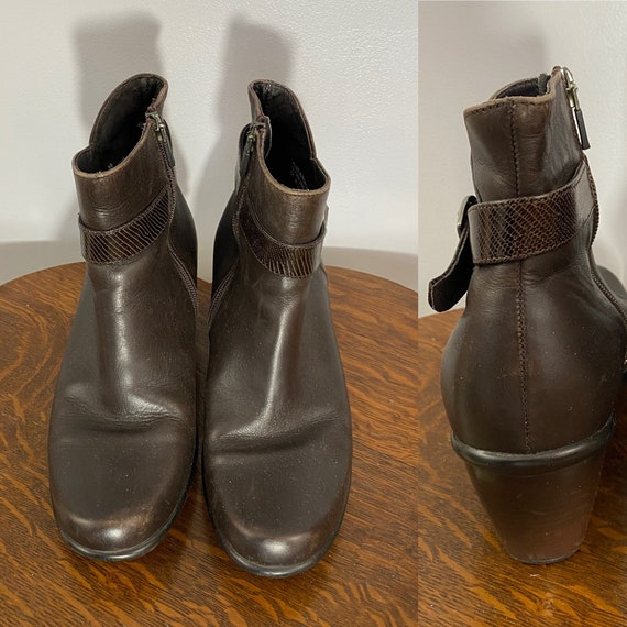 Dansko Brown Leather Booties