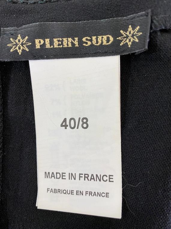 Plein Sud Sleeveless Wool/Leather Shirt - image 5