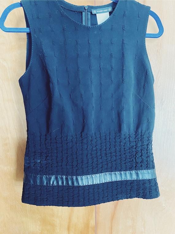 Plein Sud Sleeveless Wool/Leather Shirt - image 6