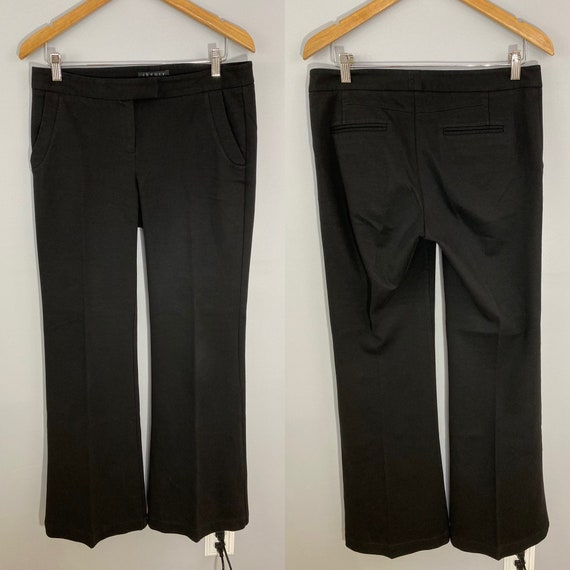 Theory Wide-Legged Cotton-Blend Trousers