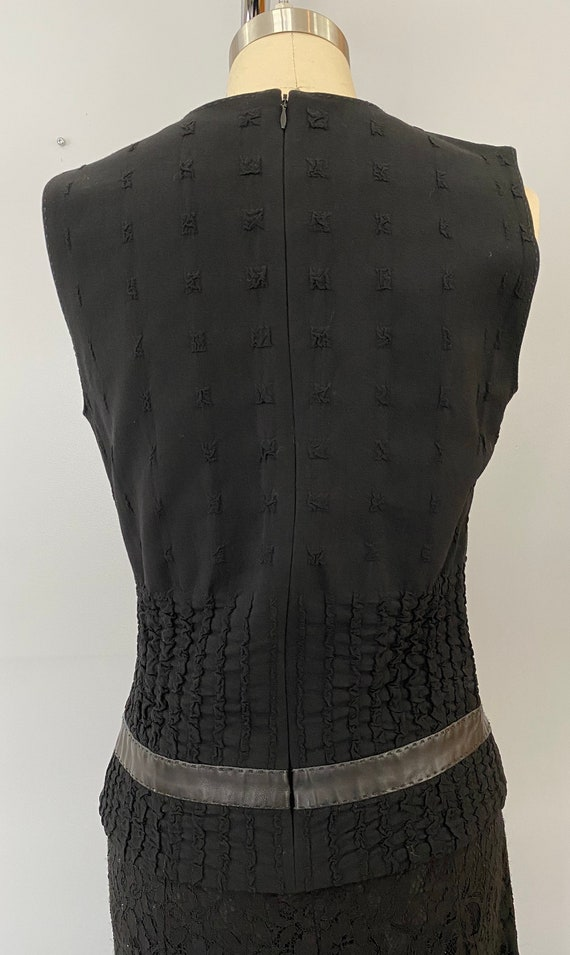 Plein Sud Sleeveless Wool/Leather Shirt - image 4