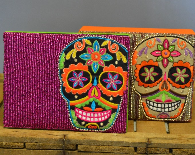 ON SALE!!!!!  Sugar Skull Jewelry Box, Jewelry Box, Gift for Her,  Gift Box