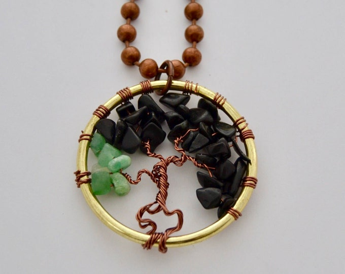 Tree of Life Stone Spiritual Bodhi Necklace, 2 in Pendant