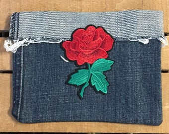 Tomas Rose Patch Jean Pouches