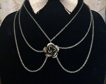 3 Tier Rose Necklace