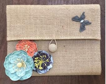 Cork and Raffia Flower Journals