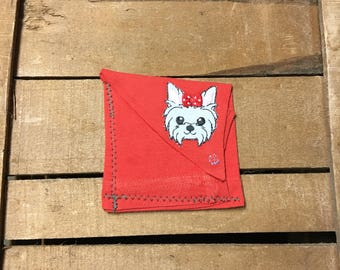 Cat/Dog Patch T-shirt Sleeve Wallet/Coin Purse,Recycled Wallet, Handmade Wallet, Gift for her, Gift for him