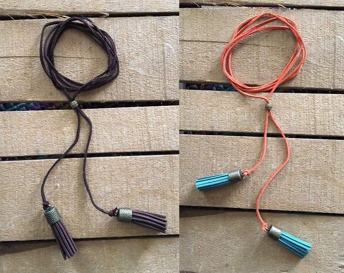 Suede Tassel Choker/Necklace