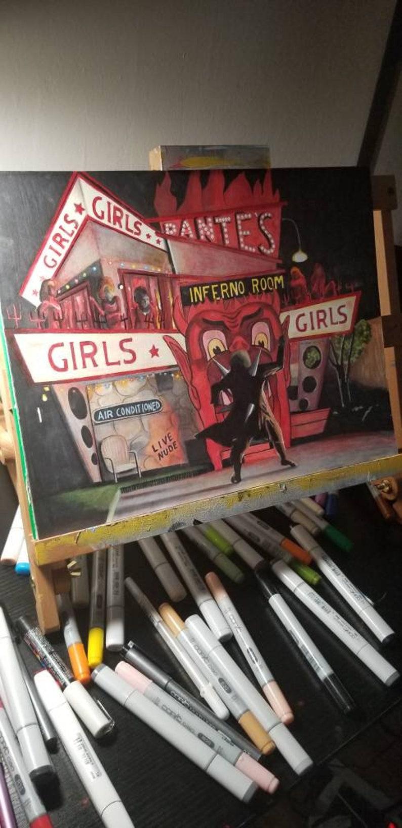 Beetlejuice Inferno Room 11x14 art print.