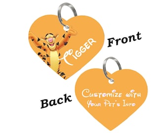 Disney Tigger Double Sided Pet Id Tag for Dogs & Cats Personalized for Your Pet