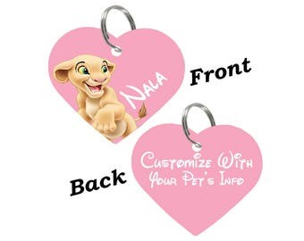 Disney Nala Double Sided Pet Id Tag for Dogs & Cats Personalized for Your Pet