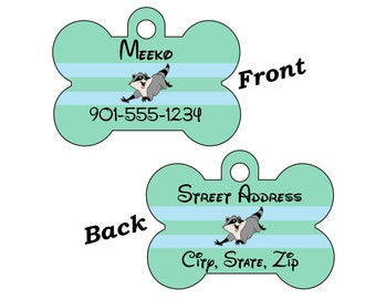 Disney Pocahontas Meeko 2-SIDED Pet Id Tag for Dogs and Cats Personalized for your Pet