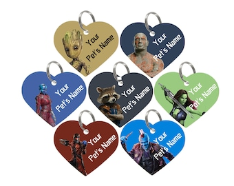 Disney Guardians of the Galaxy Double Sided Pet Id Tag for Dogs & Cats Personalized for Your Pet