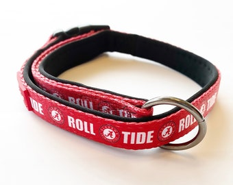 Alabama Crimson Tide Custom Adjustable Nylon Dog Collar