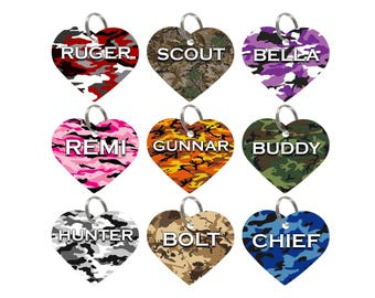 Camo Custom Double Sided Pet Id Tags for Dogs & Cats Personalized for your Pet