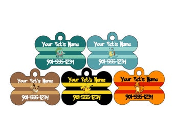 Pokemon Custom Pet Id Dog Tag | Personalized w/ Your Pet's Name and Number | Add Any Character!