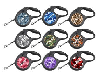 Customized Retractable Dog Leash Camo Pattern Personalized for Your Pet