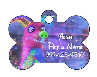 Disney Dante Coco Pet Id Dog Tag Personalized w/ Your Pet's Name & Number